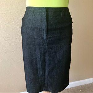 Sandro Sportswear Black Wash Denim Skirt